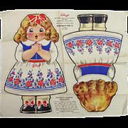 Kellogg's Goldilocks & Three Bears Cloth Dolls  C. 1929