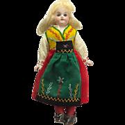 Antique Kling Bisque Head Doll 7 3/4 Inches C.1890