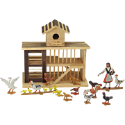 Vintage Chicken Coop Farm Toy - Charles Morrell