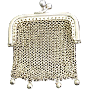 Tiny Sterling Silver Doll Purse