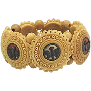 Antique Vegetable Ivory Butterfly Bracelet Circa 1890