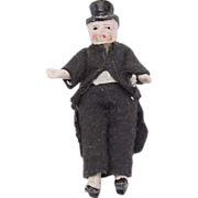 Vintage All Bisque Top Hat Doll