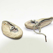 Pair of Antique Baby Doll Shoes