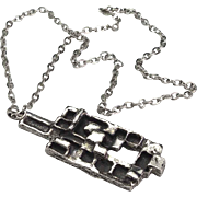 SOLD Modernist Robert Larin Pewter Necklace
