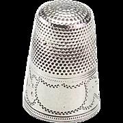Vintage Small Silver Thimble
