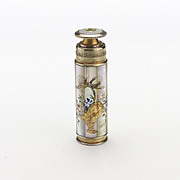 Lovely Vintage Brass and Painted MOP Atomizer Perfume