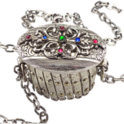 Vintage Expanding Jeweled Purse Frame