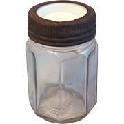 Old Borden's Baby Condensed Milk Jar with White Glass Lid Ca 1910