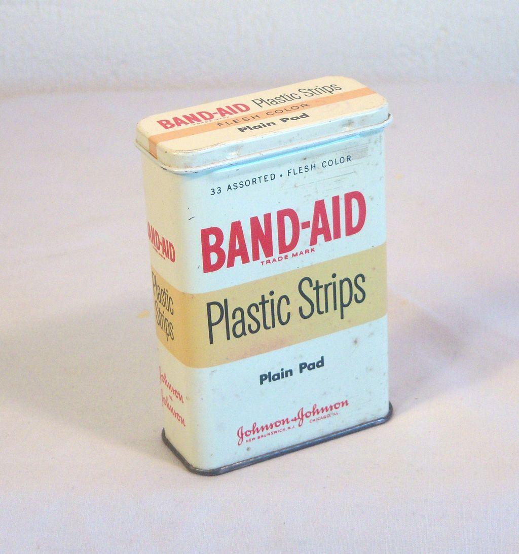 Classic Band-Aid Tin 1950's