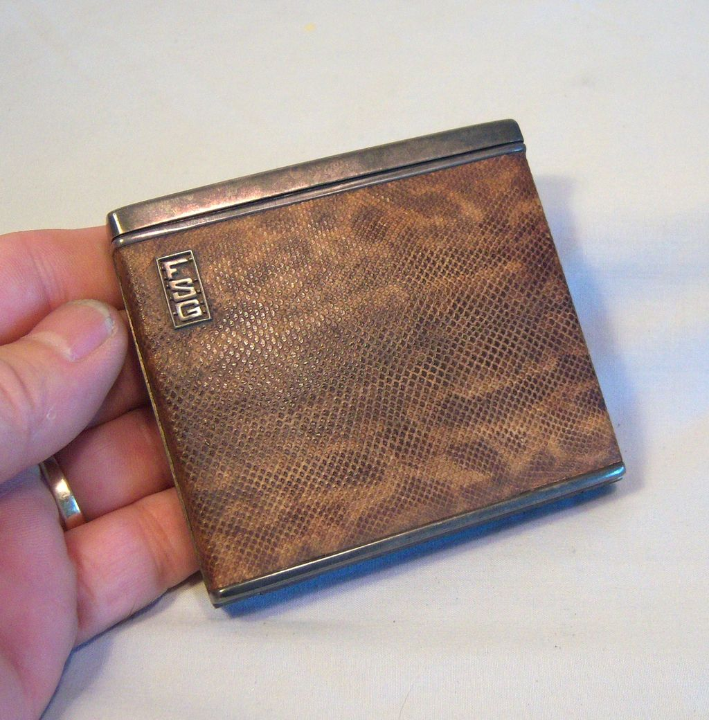 DUNHILL Fulpak Cigarette Case Wrapped in Snake Leather 1930's