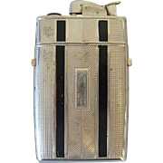 Evans Cigarette Case/Lighter 1950's Black Stripes