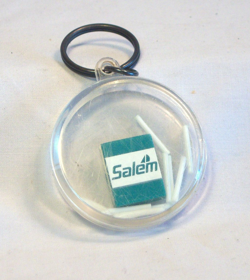 SALEM Cigarettes Keychain and Game Combo 1960's