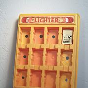 Vintage K Brand Lighter Display with Sears DieHard Battery Lighter