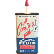 Cardinal Lighter Fluid Tin 4 OZ Circa 1960