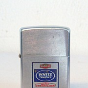 SOLD ZIPPO White Trucks Engraved in Blue and Red 1972