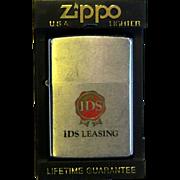 ZIPPO Pocket Lighter 1971 Advertising IDS Leasing