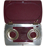 REDUCED Motorola Portable AM Radio in Bakelite and Steel Case 1947