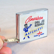 BARLOW 6ft Tape Measure American Drill Advertiser Red, White & Blue