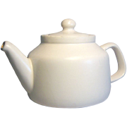 McCoy Teapot with Flat Matte White Finish 1974-1983