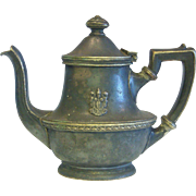 Hotel Chase 8 oz Silver Soldered Tea Pot 1922