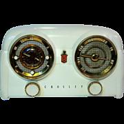 """1951 Crosley """"Dashboard"""" Table Top Clock Radio"""