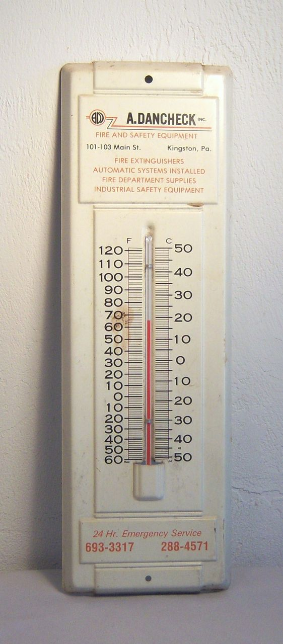 Vintage Outdoor Thermometer Advertising -A. Dancheck, Inc.-1970's