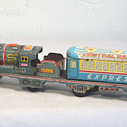 Vintage Tin Litho Friction Toy Train Japan 1950's