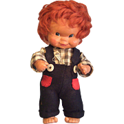 REDUCED Vintage GOEBEL Boy Doll - Western Germany by Charlot Byj 1957