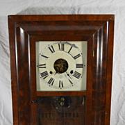 Antique Mahogany Seth Thomas Glass Front Wall Ogee Clock