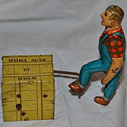 Vintage Tin Metal Toy by Wuco Tinplate Wind Up Germany