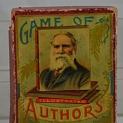 Vintage Game of Illustrated Authors by McLoughlin Brothers