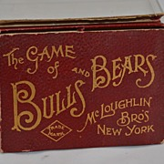 SOLD The Game of Bulls and Bears McLoughlin Brothers New York