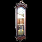 Massive Ansonia Jewelers Regulator Wall Clock No. 4 in Walnut