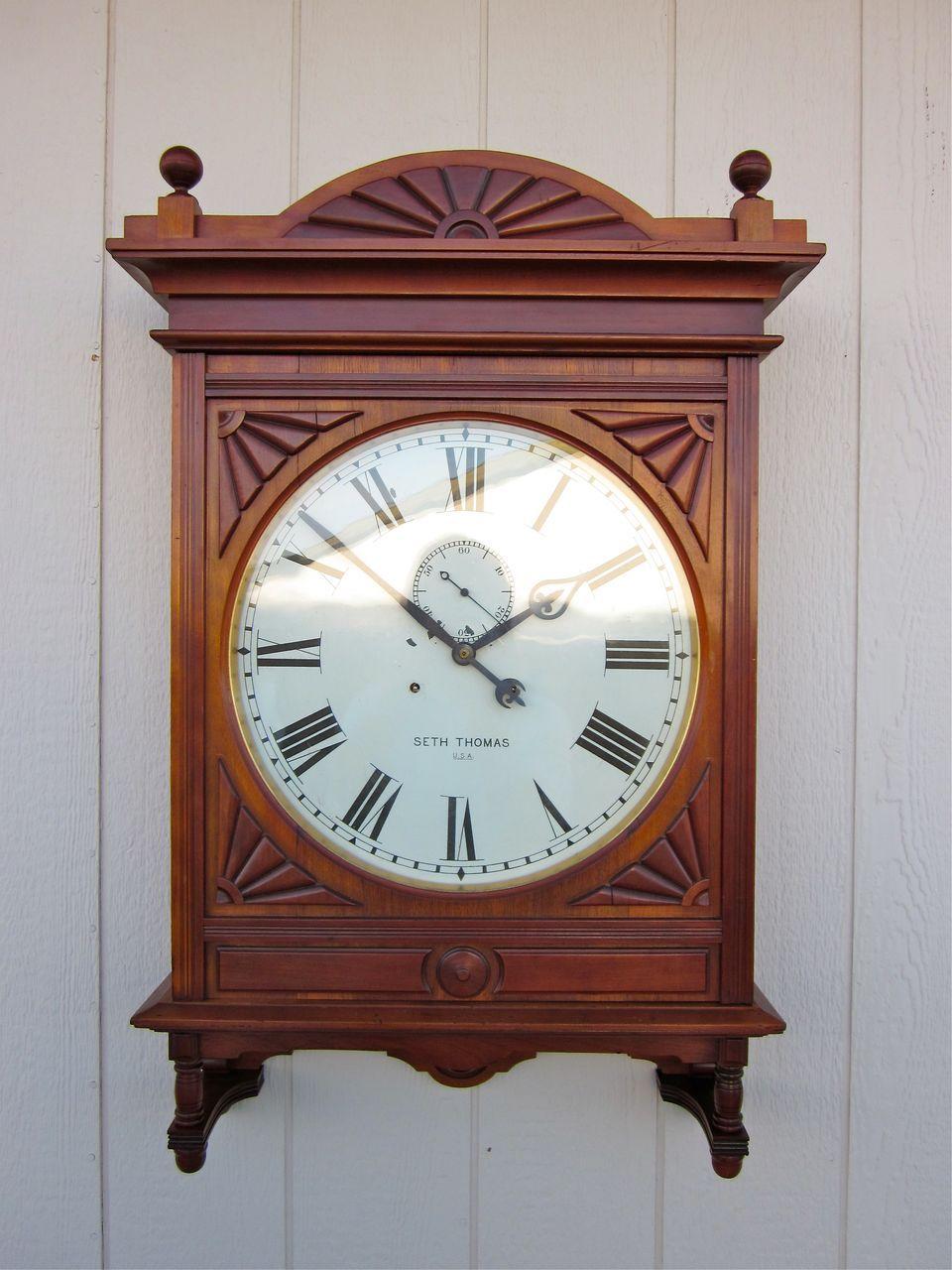Impressive Seth Thomas 18 Quot Lobby Clock In Gorgeous Cherry
