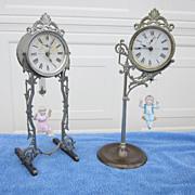 Ansonia Jumper No.'s 1 and 2 Bobbing Doll Novelty Clocks C. 1895