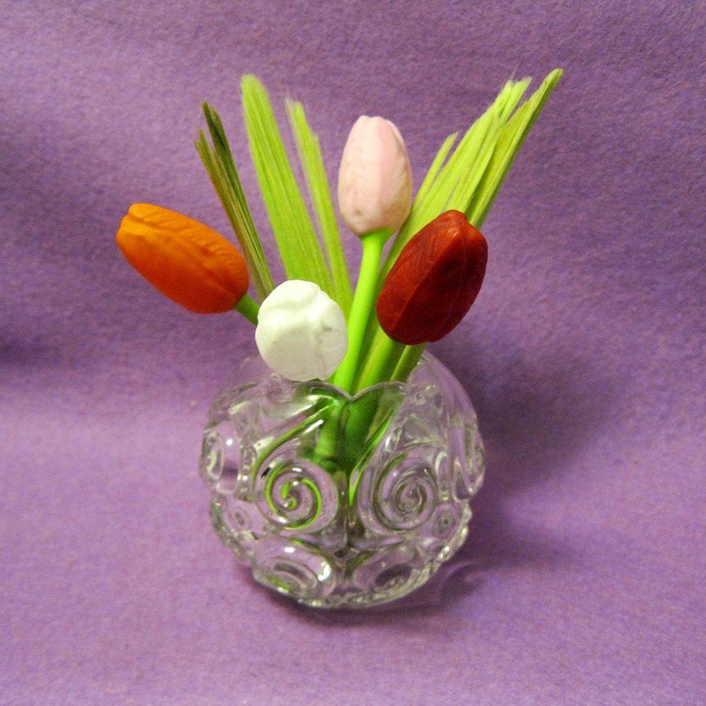 Mini Blown Glass German Tulips From Toniink On Ruby Lane