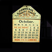 1869 Calendar, Commerce Insurance Co., Albany NY