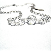 Vintage Czech Crystal Necklace with tag