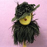 SOLD Vintage Doll Hat, Victorian Ornament