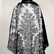 SOLD Black Antebellum Chantilly Lace Shawl