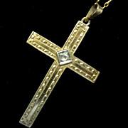 1930s 10K Gold Cross Pendant