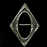 Diamond Shaped Art Deco Slide Buckle