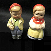 Vintage Figural Salt & Pepper Shakers, Germany