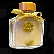 'L'Origan' de Coty Peach Perfumed Powder Sachet