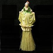 Colonial Lady Porcelain Vanity Brush