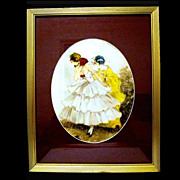 Framed 1936 Print of Pierrette and Pierrot, Signed Camilla Lucas
