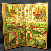 SOLD Game Board for the Original 1899 'Game of Phoebe Snow'