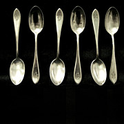 Six International Sterling Teaspoons with 'B' Monogram