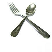 Vintage Silverplate fork and Spoon Advertise Metropolitan Life