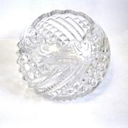 Scarce EAPG Rose Bowl 'Diamond Swirl', US Glass, 1895